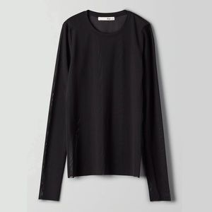 Aritzia Wilfred Kristen Long-sleeve Mesh Shirt NWT